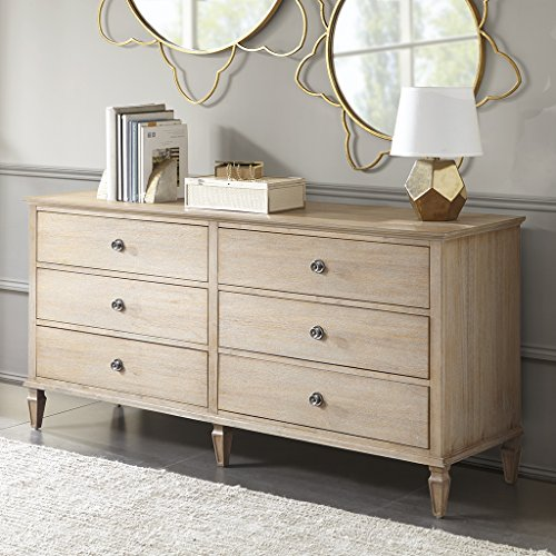 Madison Park Signature MPS137-0117 Victoria Dressers for Bedroom 6 Drawer Media Console Cabinet Accent Living Room Storage Organizer, 70