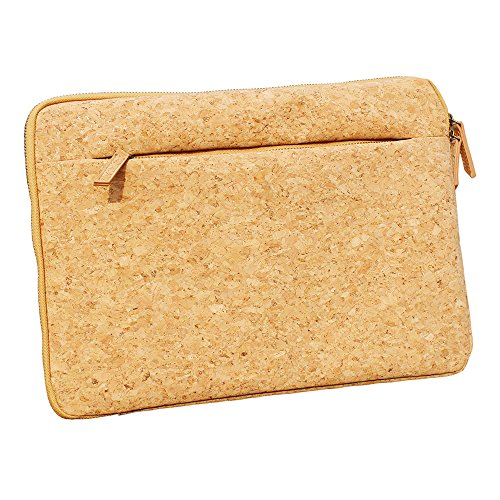 ECO-Friendly Cork Protective Sleeve Case Zipper Laptop Case for Apple MacBook Air Tablet Computers by Boshiho (13-13.3 inch)