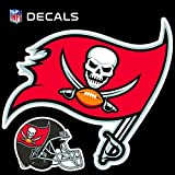 Stockdale Technologies Tampa Bay Buccaneers 12'' Logo Decal with Bonus Decal Reusable Auto Home Football