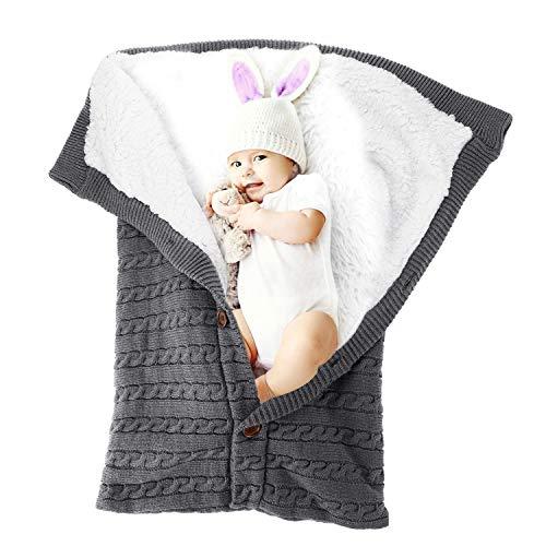 Baby Swaddle Blanket Winter Stroller Blanket for Infant, Receiving Blankets Sleeping Bag for Newborn and Toddlers (Toddler Swaddle Blanket)