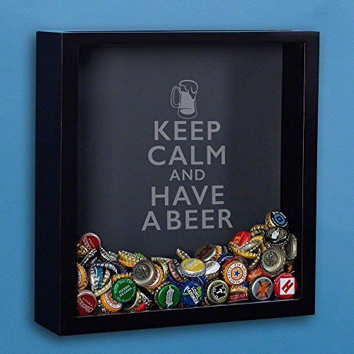 Keep Calm Beer Cap Shadow Box (Personalized Product) (And Calm A Keep Have Beer)