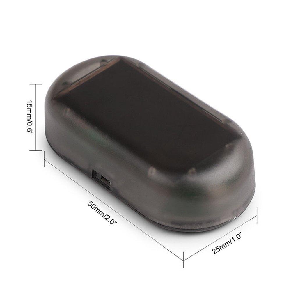 TS Trade Solar Car Dummy Alarm Dummy Light Flashing LED Flash Blinking Security System