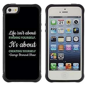 LASTONE PHONE CASE / Suave Silicona Caso Carcasa de Caucho Funda para Apple Iphone 5 / 5S / Creating Creativity Black Message Text