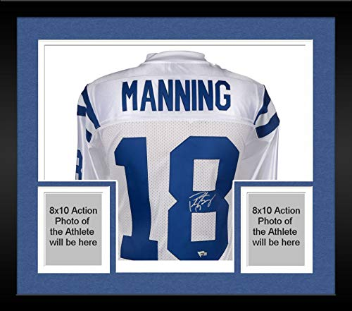 Framed Peyton Manning Indianapolis Colts Autographed Mitchell & Ness 2006 Super Bowl Patch White Authentic Jersey - Fanatics Authentic Certified