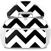 Skin For DJI Goggles – Black Chevron | MightySkins Protective, Durable, and Unique Vinyl Decal wrap cover | Easy To Apply, Remove, and Change Styles | Made in the USA
