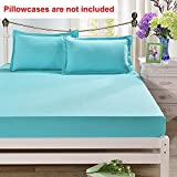 Tookkata - 1 Set Queen Cotton Bed Fitted Sheets Set Comfort Bedding Cover Bedclothes Full King Design (Blue, Twin/Single 120x200cm)