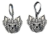 Yorkshire Terrier Earrings For Yorkie Dog Lovers Silver Color