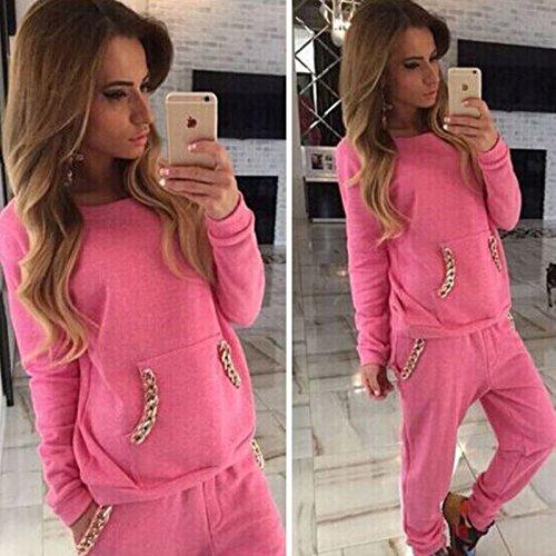 Women's 2pcs Hoodies Sweatshirt Pants Sets Casual Tracksuit - 3