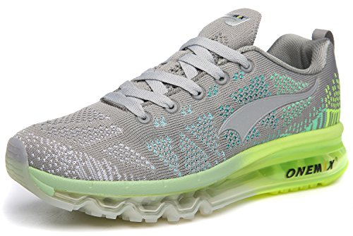ONEMIX Womens Air Cushion Outdoor Sport Running Shoes Lightweight Casual Sneakers Grey...