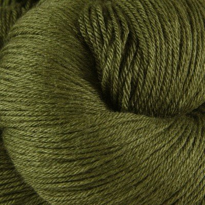 Valley Yarns Charlemont Fingering Weight Sock Yarn, Superwash Merino Wool/Silk/Polyamide - Dark Olive - Silk Wool Lace