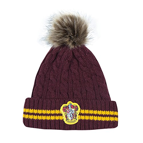 Cinereplicas Harry Potter Beanie Hat Knit Cap - Official (Pompom Gryffindor)