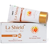 Glenmark La Shield Oil-Free and Dermatologist Tested SPF 40 Sunscreen Gel (60 g)