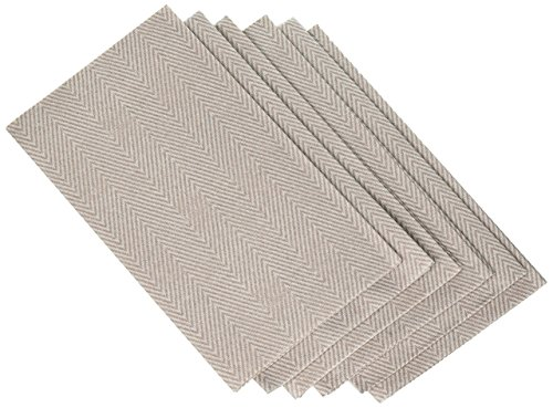 Entertaining with Caspari 9761GG Jute Paper Linen Guest Towels, Flax, 12-Pack