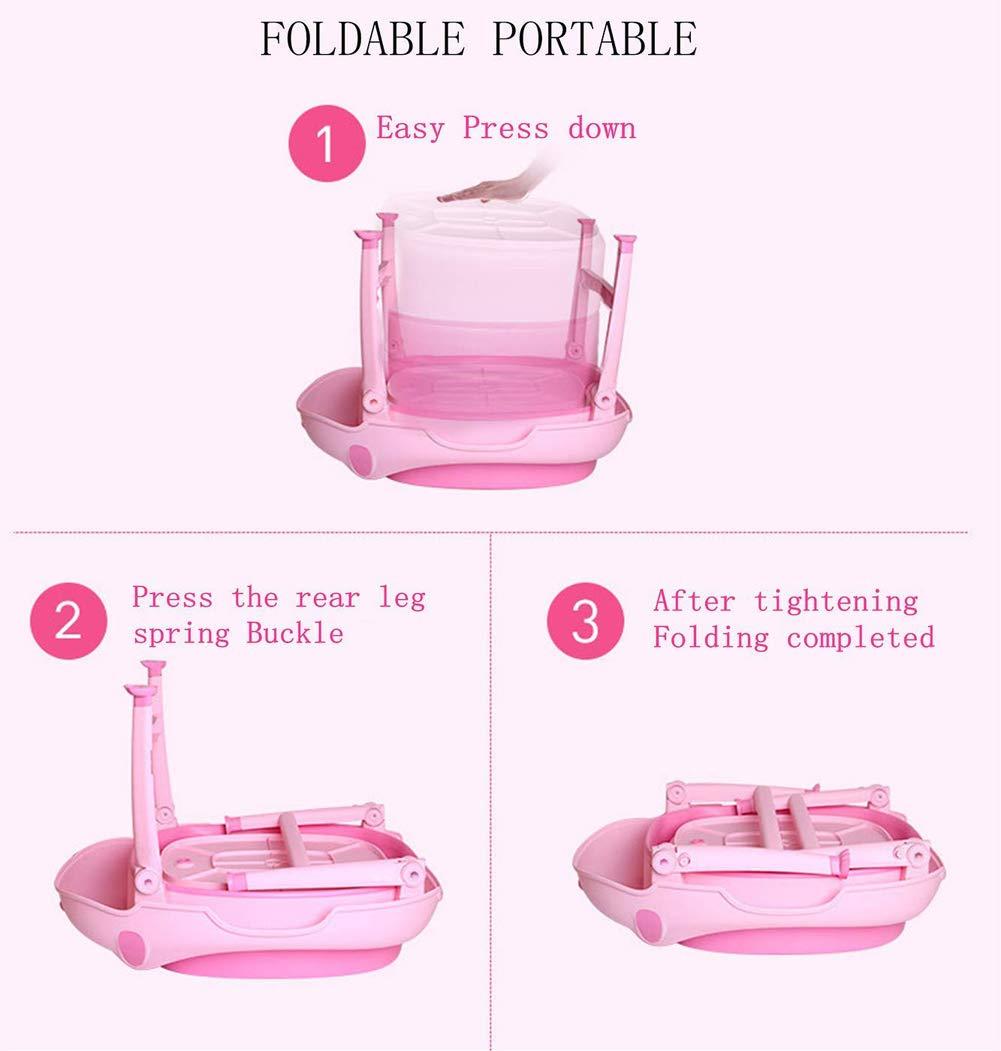 Children Safe Portable Foldable Bathtub, 29x21inch - Baby Bath Tub Kids Bath Tub Can Sit Lying Bath Tub for 6 Months to 10 Years Old Children (Pink) by Finebaby (Image #8)