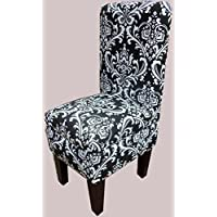 Black and White Ozborne Design Dining Vanity Chair