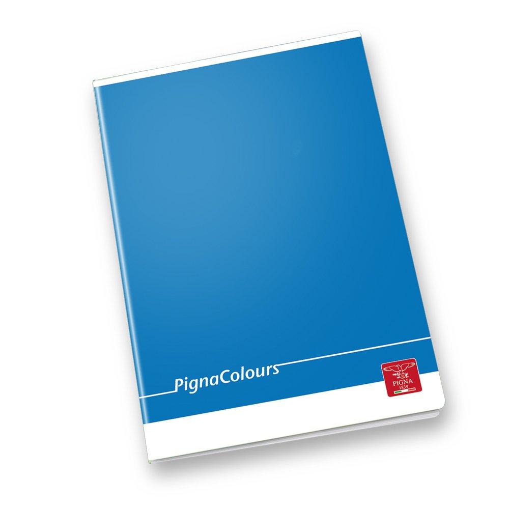 Pigna Colours 022988610, Quaderno formato A4, Rigatura 10, quadretti 1 cm per 1° elementare, Carta 80g/mq, Pacco da 10 Pezzi Cartiere Paolo Pigna S.p.A.
