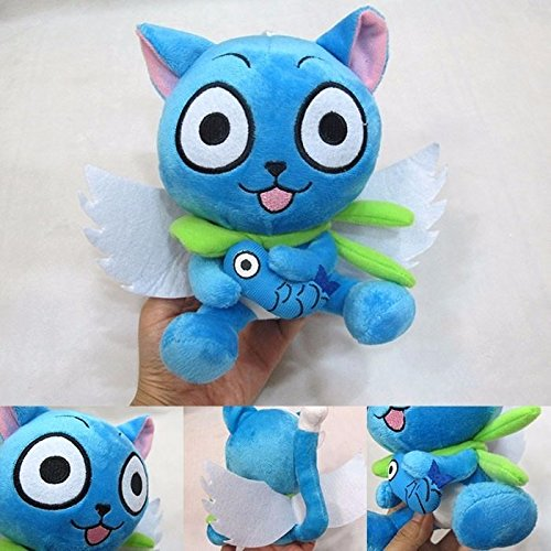 Goku Baby Costume With Tail (Anime Fairy Tail Blue Happy Cat 18cm/7