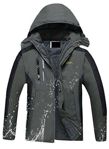 Men's Hooded Waterproof 2 Windproof Insulated Rain Generic Jacket zZv8wxf