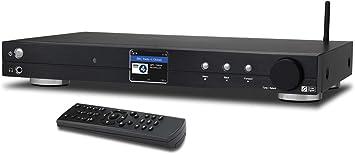 Sintonizador de Radio con Internet WiFi Ocean Digital (430 mm) WR10 Dab+/Dab/FM/Receptor Ethernet Bluetooth Pantalla Color TFT 2,4