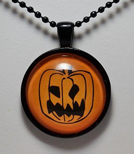 Halloween Pendant Jewelry Jack-O-Lantern Halloween Necklace Pumpkin Necklace C L Murphy Creative -