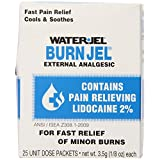 Water Jel First Aid Burn Relief Jel, 25-Count
