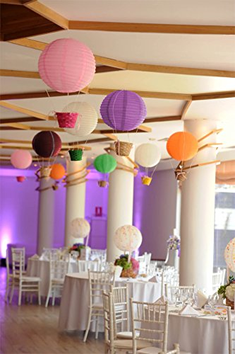 Selizo 25 Packs Paper Lanterns Decorative with Assorted Colors and Multi Sizes for Party Decoration by Selizo (Image #4)
