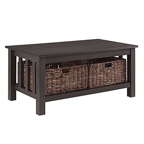 (WE Furniture AZ40MSTES Coffee Table, 40 inch, Espresso)