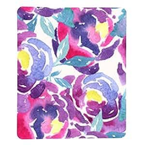 alfombrilla de ratón Patrón sin fisuras de la acuarela floral de Rose - rectangular - 23cm x 19 cm