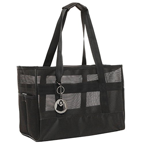 MG Collection Designer Inspired Black Soft Mesh Sided Dog an