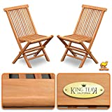 Strong Camel Golden Teak Wood Folding Chair Outdoor Patio Garden Yard Folding Seat Dining Chair 2 Piece