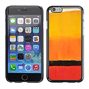 PC/Aluminum Funda Carcasa protectora para Apple Iphone 6 Africa Horizon Watercolor Orange / JUSTGO PHONE PROTECTOR