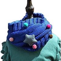 JUNGEN Bufandas de Bebé Linda O Cuello bufandas de punto Gypsophila toño invierno bufanda para Niños Niñas, Rojo