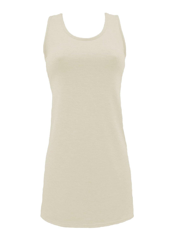Endless Beauty Women's Plain Racer Vest Cream