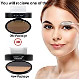 3 Stencils Waterproof Eye Brow Stamp Perfect Eyebrow Power Seal Nature Delicate Shape Makeup Fashion Unique Brow Powder for Eyebrows Beginners Busy People