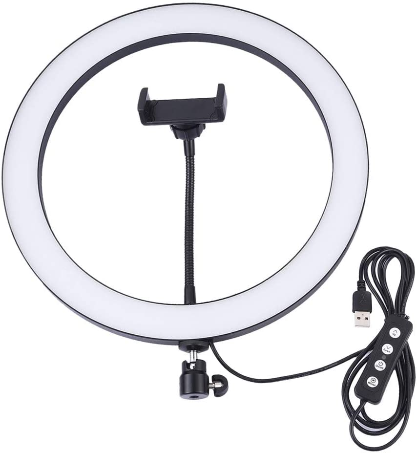 laizetongxun 10.2//11.8in 26//30cm USB 3 Modes Dimmable LED Ring Vlogging Photography Video Lights