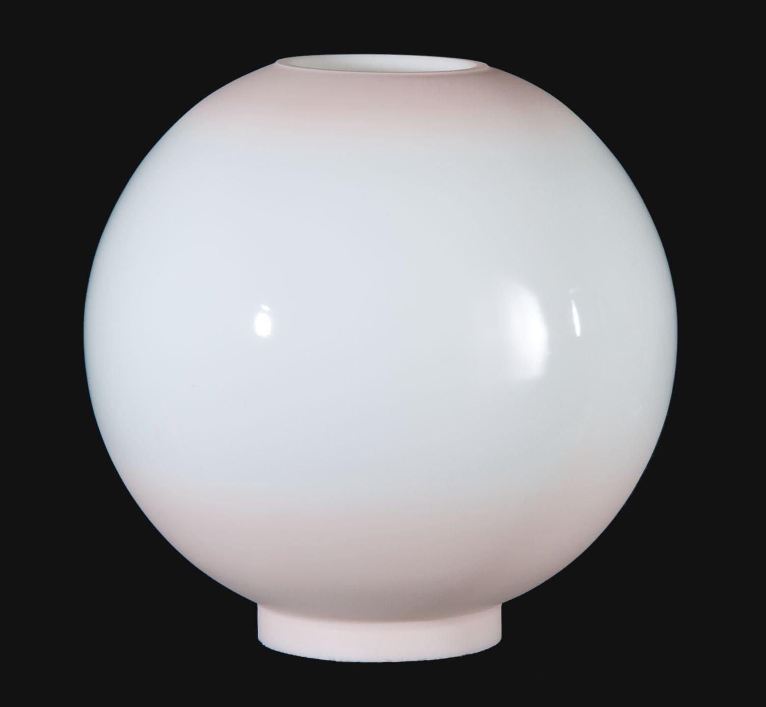 B&P Lamp 10'' Opal Glass Ball Shade, Pink Tint by B&P Lamp