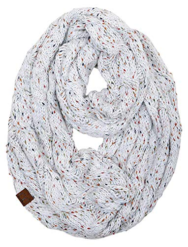 S1-6033-25 Funky Junque Infinity Scarf - Ivory (Confetti)