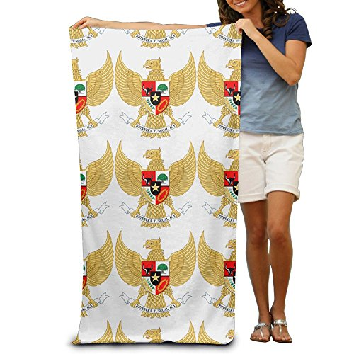 Qinf National Emblem Of Indonesia Garuda Pancasila Adult Beach Towels Fast/Quick Dry Machine Washable Lightweight Absorbent Plush Multipurpose Use For Swim,Beach,Camping,Yoga by Qinf