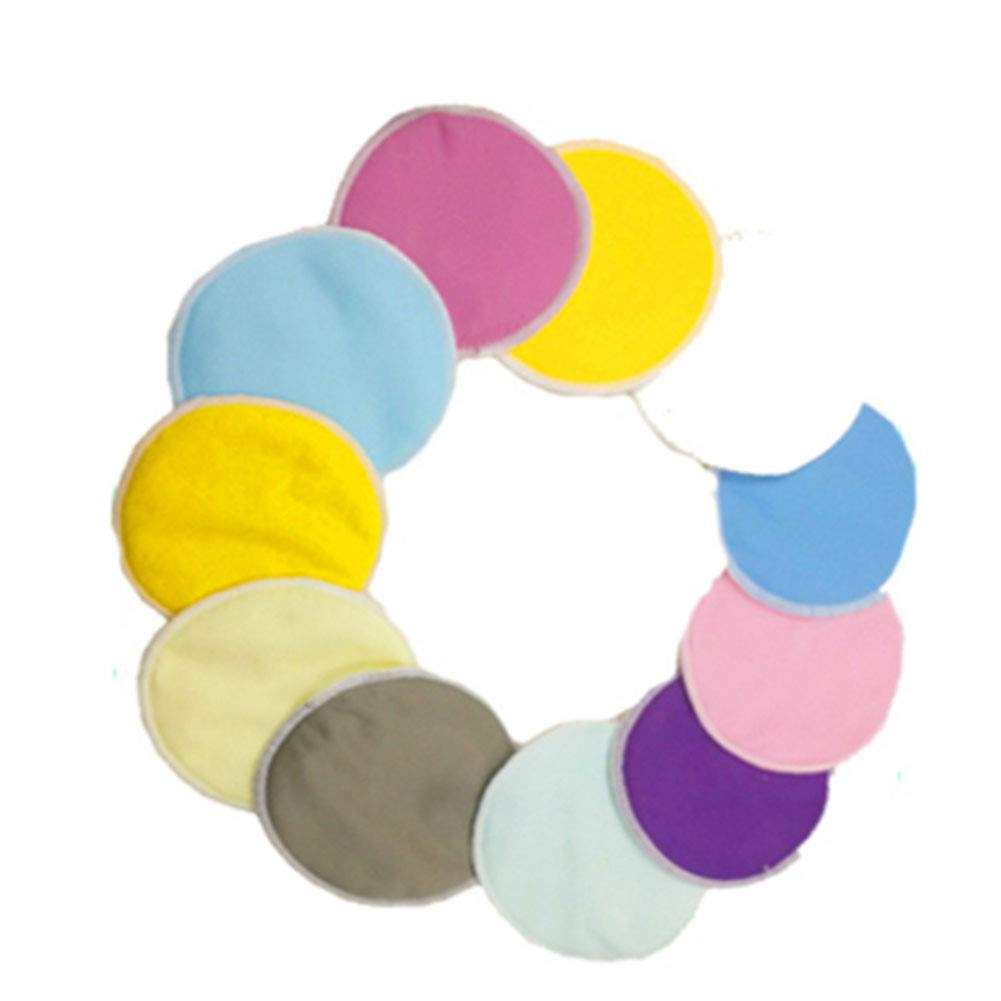 YaptheS Organic Bamboo Reusable Washable Breast Pad for Baby Feeding Breastfeeding Reusable Breast Pad 4pcs Random Color