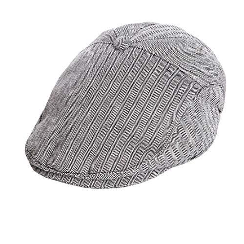 - OVOY Boy's Tweed Cap Scally-Boy-Newsboy Baby Kids Driver Cap Cotton (Navy, 48CM/18.9