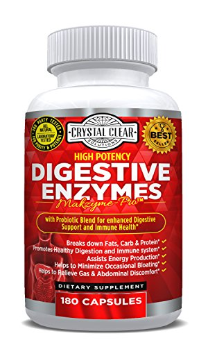 Digestive Enzymes Supplement with Probiotics, Best for Indigestion, Ibs, Gas, and Bloating, Natural Vegan Friendly