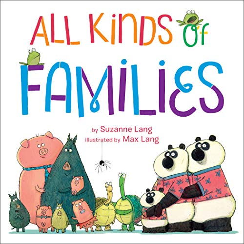 Audiobook cover from All Kinds of Families by Suzanne Lang