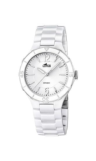 Lotus 15931/1 - Reloj de Pulsera Mujer, Cerámica, Color Blanco: Amazon.es: Relojes