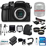 Panasonic LUMIX DMC-GH4 16.05MP Digital Single Lens Mirrorless Camera with 4K Cinematic Video (Body Only) + Videographer's Essentials Kit