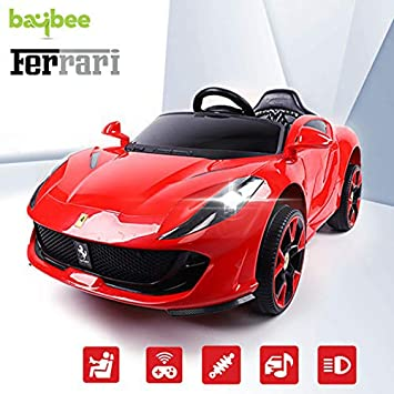 Buy Baybee Ferrari Baby Toy Car Rechargeable Battery Operated Ride On Car For Kids Baby With R C Car Children Car Electric Motor Car Kids Cars Baby Racing Car For Boys Girls Age