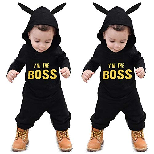 WOCACHI Toddler Baby Boys Clothes, Toddler Kids Baby Letter Boys Girls Hoodie Outfits Clothes Romper Jumpsuit 2019 Spring Summer Under 5 Deals Allowance Campaign by WOCACHI (Image #2)