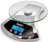 Ultimate54 Digital Kitchen Food Scale 22lb/10kg Capacity with LCD Display & ....