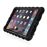 Apple iPad mini 4 - Hideaway with Stand - Black - Black - Silicone - Rugged Shock Absorbing Protective Dual Layer Cover Case