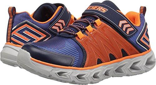 Skechers Kids Kids' Hypno-Flash 2.0 Sneaker,Navy/Orange,1.5 Medium US Little ()