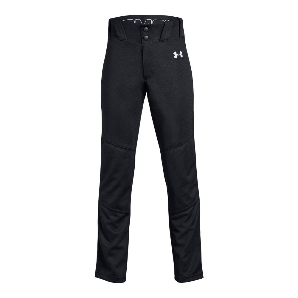 Under Armour Boys Utility Relaxed Baseball Pant, Black (001)/White, Youth X-Small by Under Armour